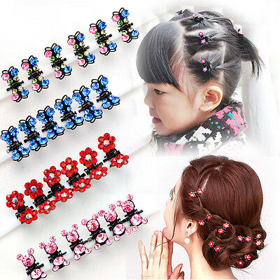 12pcs/Lot Children Hair Accessories Headdress Girl Plate Hair Clip crystal Clip