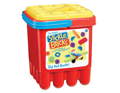 Stickle Bricks Big Red Bucket New