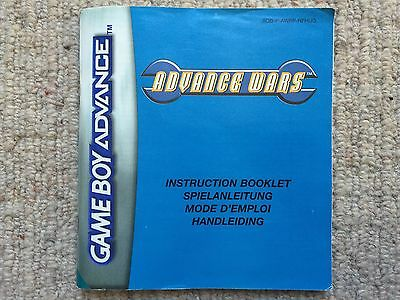 Advance Wars - Game Boy Advance GBA Manual Only