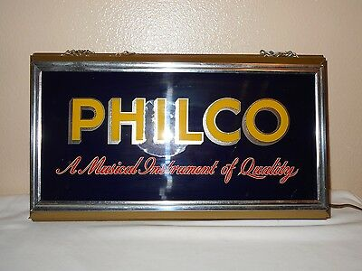Vintage Advertising  Light Up Sign-Philco
