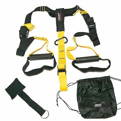 Suspension Resistance Trainer Straps Kit Gym Fitness Mma Workout System