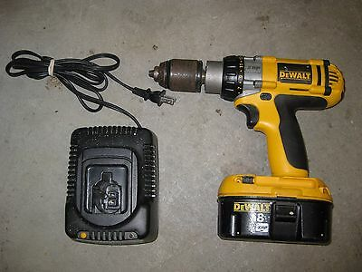 Dewalt Dw987 18V Drill, Battery And Charger Dw9116 Hd 1/2""