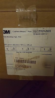 3M Cushion-Mount Plus Plate Mounting Tape E1920HS 18 in. x 25 yd Pink