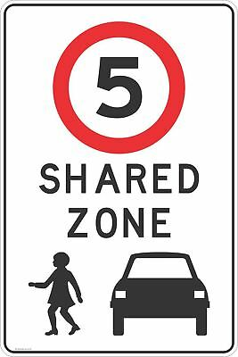 Shared Zone 5 KPH Road Traffic Sign