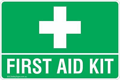 First Aid Kit Safety Signs & Stickers