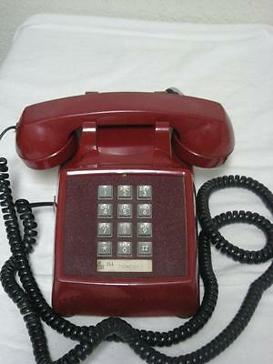 Red Bell System Push Button Desk Telephone