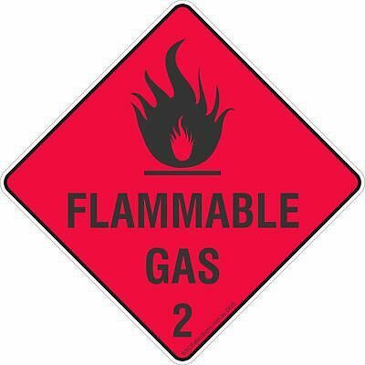 Flammable Gas 2 Safety Signs, Stickers & Placards