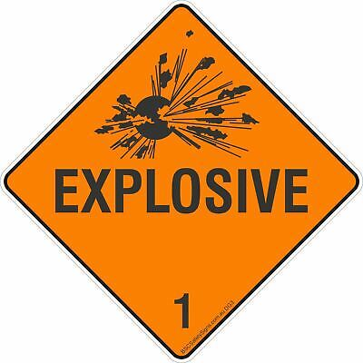 Explosive 1 Safety Signs & Stickers