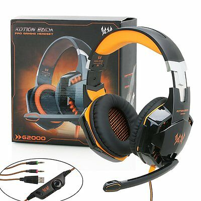 Mic 3.5mm LED Headphones Surround Gaming Headset For PC Laptop Xbox One PS4