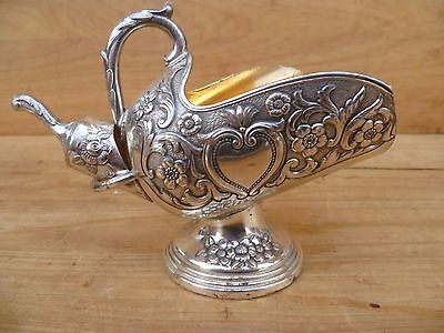 Vintage Old Plated Sugar Tea Service, Old '2' Piece Sugar Server Set (E65)