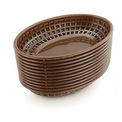 New Star 44119 Fast Food Baskets 9.25 by 6-Inch Brown Set of 36