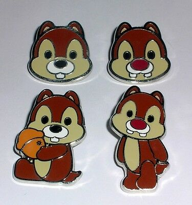 CHIP & DALE Cute Characters Cutie Mini Mickey & Friends Disney 4 Pin Set AUTHENT