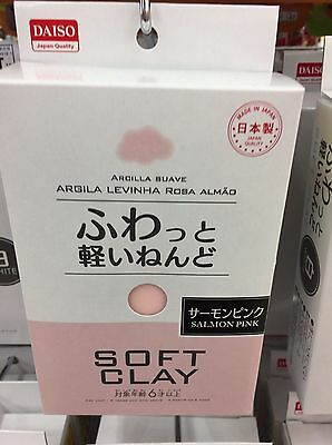 DAISO JAPAN DIY Soft Clay Arcilla Suave Lightweight SALMONPINK Made In JAPAN F/S