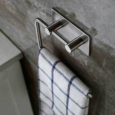 304 Stainless Steel  Self Adhesive Toilet Paper Roll Holder Towel Hooks Wall