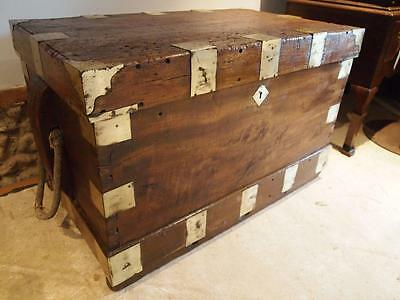 Seamans Chest Blanket box coffee table rare Camphor c1810