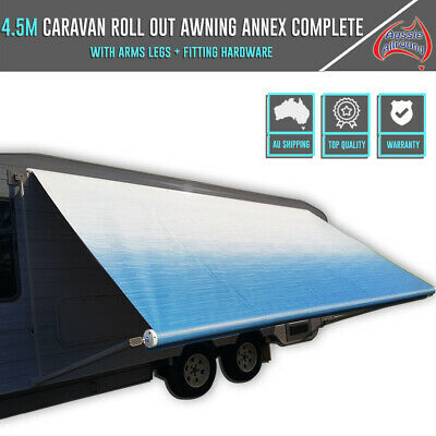 4.5M Caravan Roll Out Awning Annex Complete With All Fitting Hardware