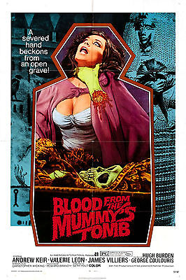 Blood From The Mummy's Tomb - Hammer Horror - A4 Laminated Mini Poster