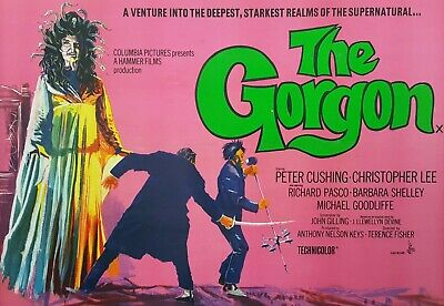 The Gorgon - Peter Cushing - Christopher Lee - A4 Laminated Mini Poster