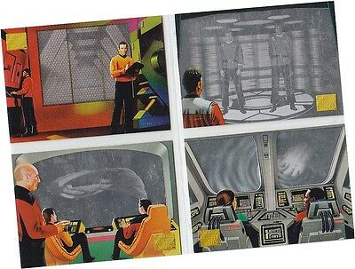 "Star Trek Master Series 2: 4 Card ""Proscenium Holograms"" Mail In Offer Set HG1-4"