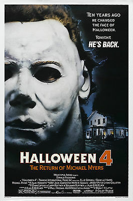 Halloween 4 The Return of Michael Myers - A4 Laminated Mini Poster