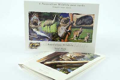 Postcard Pack, Australia Photographic Wildlife Series, 6 Postcard Designs