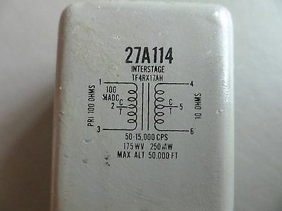 Audio interstage output transformer 100CT:10CT  TF4RX17AH Triad UTC Freed