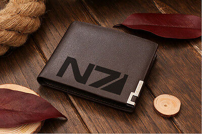 Genuine Quality Leather Wallet Mass Effect N7