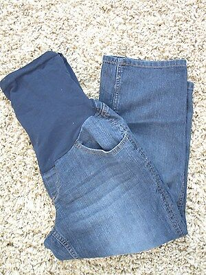 Women's Oh Baby by Motherhood Maternity Denim Blue Jean Capris Size Medium M