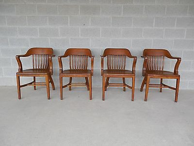 Dubin Co. Mission Oak Arts & Crafts Style Set of 4 Arm Chairs