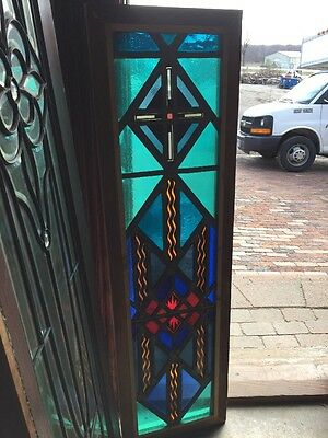 Sg 1292 Antique Painted And Fired Vertical Window Fireworks