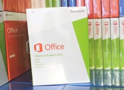 New Sealed Microsoft Office 2013 Home & Student Lifelong 100% Genuine Word Excel