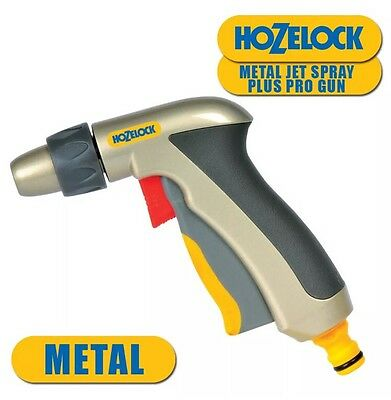 Hose Water Jet Spray Gun Hozelock 2690 Metal Bronze Adjustable Nozzle Gardening