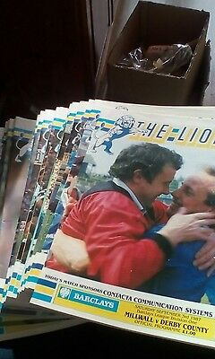 24 x Millwall Programmes 1988-89 Complete Season With Official Binder