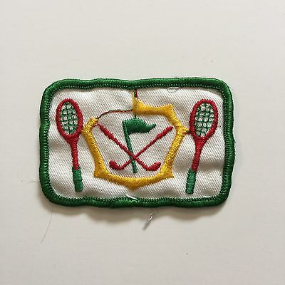 Vintage Patch Tennis Golf Red Green Yellow White