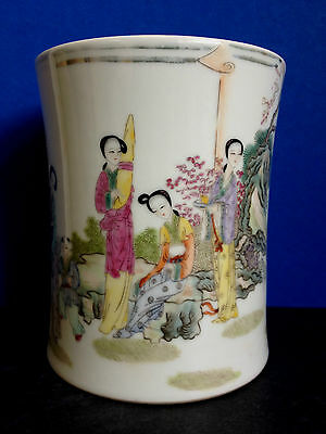 Stunning Chinese Famille Rose Porcelain Core Shape Vase Marked YuZiMing 1207