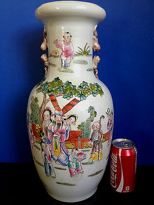 Very Large Chinese Famille Rose Porcelain  Vase  100F