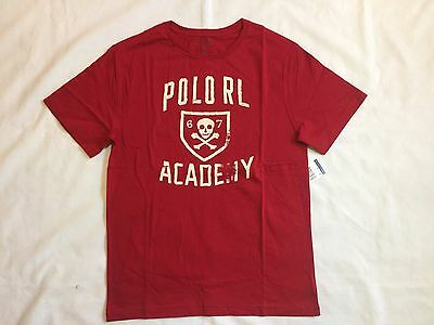 Nwt, Polo Ralph Lauren Boy's Toddler Graphic Short.sleeve T.shirt- Jewel Red 2T