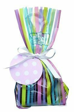 12 Sweetly Does It Small Stripes Treat Bag Kit