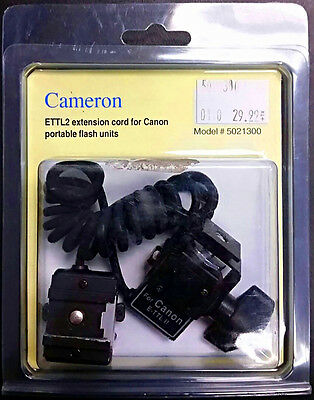 Cameron E-TTL II Off-Camera Extension Cable/Sync Cord 5021300 for Canon Flash