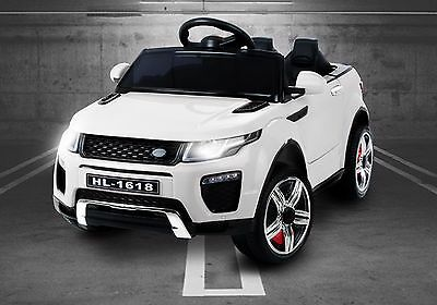 New Kids Range Rover Evoque Style Battery Ride On Car 12v Electric Jeep - White