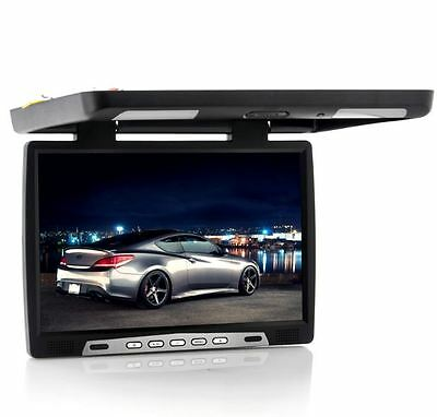 "17"" Car Monitor 1440x900 Roof Mounted 16:9 Widescreen LCD DVD Media Player"