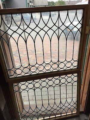 Sg 1295 2 Available Price Separate Antique Leaded Glass Window 28.25 X 38.25