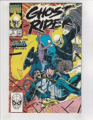 Ghost Rider (1990) #5 VF/NM 9.0 Marvel Comics vs. Punisher Jim Lee Cover