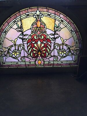Rk 31 Antique Rudy Brothers Landing Window Arch 31 X 43 W