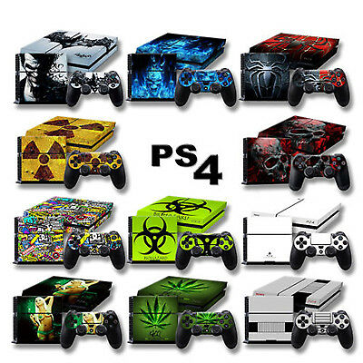 Ps4 Peau Autocollant Vinyl Playstation 4 Film Protection Console Skin Design