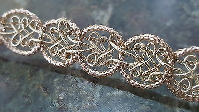 1.5cm- 2 meter Beautiful gold lace trim braid for crafts decor arts DIY sewing