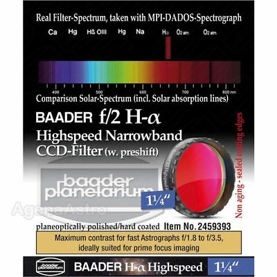 "Baader f/2 Highspeed Narrowband CCD Filter: H-Alpha 1.25"" FHALHS-1 2459393"
