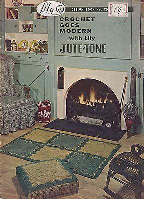 Lily Design Bk #80 Crochet Goes Modern with Lily Jute-Tone vintage 1957 patterns