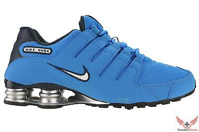 cheap for discount 3724d 12c9e NEW NIKE MENS Shox NZ Running Shoes Photo Blue/White/Armory All Sizes