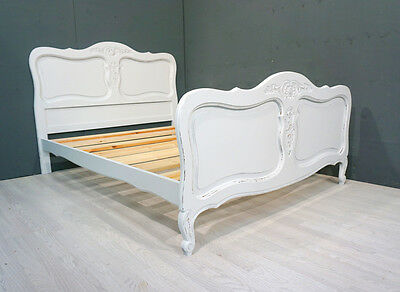 Vintage Double French Bed / Shabby Chic Bed (BR169)